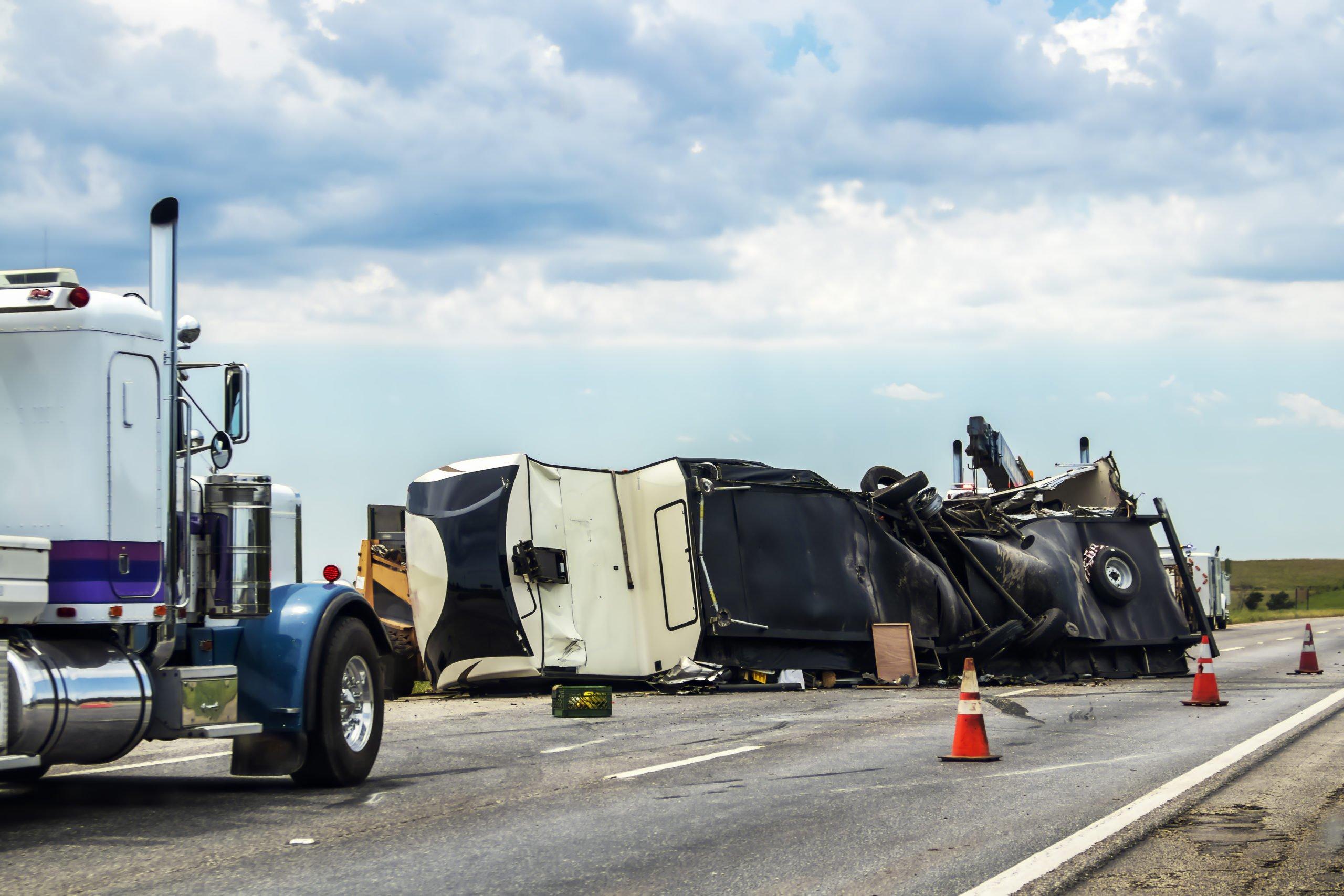 semi truck accident